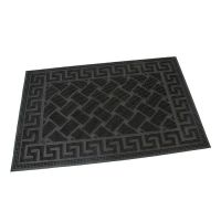 Gumová vstupní kartáčová rohož Rectangles - Deco - 60 x 40 x 0,8 cm