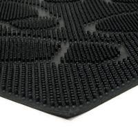 Gumová čistící venkovní vstupní rohož Shoes, FLOMAT - délka 40 cm, šířka 60 cm a výška 0,8 cm