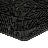 Gumová čistící venkovní vstupní rohož Shoes, FLOMAT - délka 60 cm, šířka 90 cm a výška 1 cm