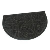 Gumová vstupní kartáčová rohož Shoes - Squares - 60 x 40 x 0,7 cm