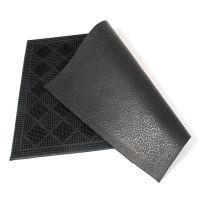 Gumová čistící venkovní vstupní rohož Squares, FLOMAT - délka 40 cm, šířka 60 cm a výška 0,7 cm