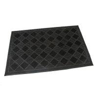 Gumová vstupní kartáčová rohož Squares - 60 x 40 x 0,7 cm