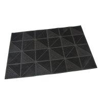 Gumová vstupní kartáčová rohož Triangles - 60 x 40 x 0,7 cm