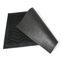 Gumová vstupní venkovní čistící rohož Welcome - Waves, FLOMAT - délka 40 cm, šířka 60 cm a výška 0,8 cm