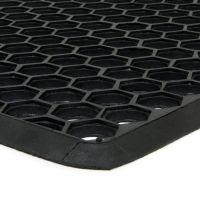 Gumová vstupní venkovní čistící rohož Hexagon, FLOMAT - délka 40 cm, šířka 70 cm a výška 1,2 cm