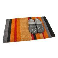 Kokosová vstupní venkovní čistící rohož Stripes, FLOMAT - délka 45 cm, šířka 75 cm a výška 1,7 cm