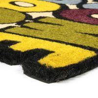 Kokosová čistící venkovní vstupní rohož Welcome - Goodbye, FLOMAT - délka 45 cm, šířka 75 cm a výška 1,7 cm