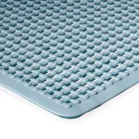 Modrá koupelnová protiskluzová sprchová rohož - 55 x 55 cm