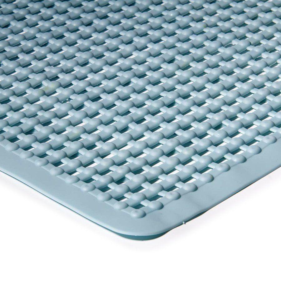 Modrá protiskluzová koupelnová vanová rohož - délka 75 cm a šířka 35 cm FLOMAT