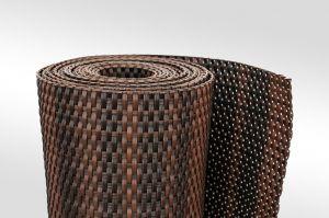 """Černo-hnědá plastová ratanová metrážová stínící rohož """"umělý ratan"""" - výška 90 cm"""