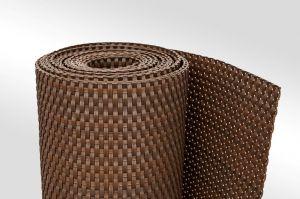 """Plastová ratanová stínící rohož """"umělý ratan"""" (tmavý ořech) - délka 500 cm a výška 75 cm"""
