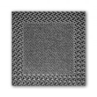 Šedá plastová textilní zátěžová vstupní rohož Modular 9900 3M Nomar Aqua 85 - délka 30 cm, šířka 30 cm a výška 2,19 cm