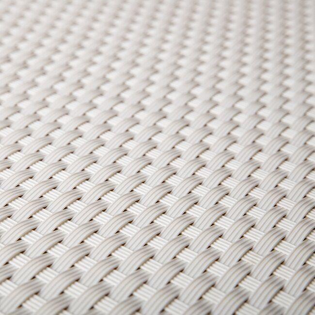"""Bílá plastová ratanová stínící rohož """"umělý ratan"""" - délka 300 cm a výška 75 cm"""