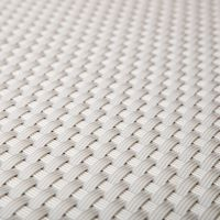 """Bílá plastová ratanová stínící rohož """"umělý ratan"""" - délka 500 cm a výška 75 cm"""