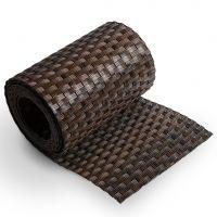 """Černo-hnědý plastový ratanový stínící pás """"umělý ratan"""" - délka 255 cm a výška 19 cm"""