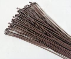 Hnědá plastová stahovací páska - délka 30 cm a šířka 0,25 cm - 100 ks
