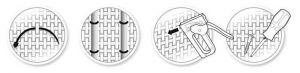 """Hnědý plastový ratanový stínící pás """"umělý ratan"""" - délka 255 cm a výška 19 cm"""