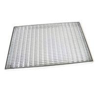 Kovová venkovní čistící vstupní rohož s rámem FLOMA Grid - délka 50 cm, šířka 100 cm a výška 3,3 cm
