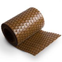 """Plastový ratanový stínící pás """"umělý ratan"""" (světlý ořech) - délka 255 cm a výška 19 cm"""