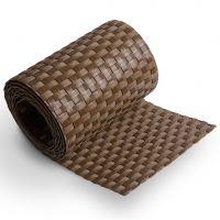 """Plastový ratanový stínící pás """"umělý ratan"""" (tmavý ořech) - délka 255 cm a výška 19 cm"""