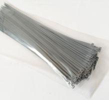 Šedá plastová stahovací páska - délka 20 cm a šířka 0,25 cm - 100 ks
