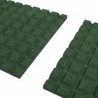 Zelená gumová dopadová dlaždice (V30/R15) FLOMA - 50 x 50 x 3 cm
