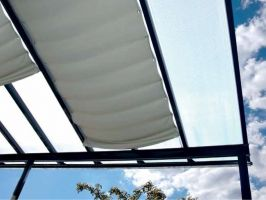 Stínění pergoly Terrassendach Original - 1,155 x 3,9 m - Sandstone
