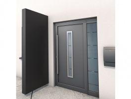 Vchodová stříška Guttavordach BS (boční stěna) -220 x 90 cm- antracit matný