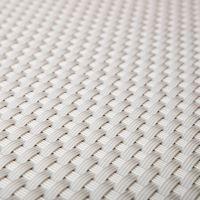 """Bílá plastová ratanová metrážová stínící rohož """"umělý ratan"""" s oky - výška 90 cm"""