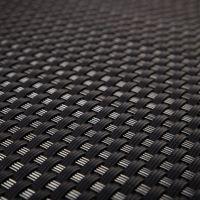 """Černá plastová ratanová metrážová stínící rohož """"umělý ratan"""" s oky - výška 110 cm"""
