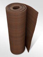 """Plastová ratanová metrážová stínící rohož """"umělý ratan"""" s oky (tmavý ořech) - výška 200 cm"""