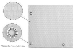 """Bílá plastová ratanová stínící rohož """"umělý ratan"""" s oky - délka 500 cm a výška 75 cm"""
