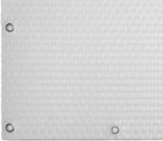 """Bílá plastová ratanová stínící rohož """"umělý ratan"""" s oky - délka 300 cm a výška 75 cm"""