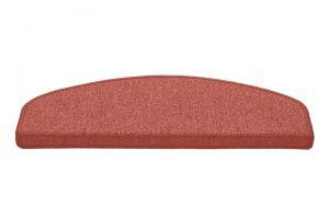 Růžový kobercový půlkruhový nášlap na schody Paris - délka 56 cm a šířka 17 cm