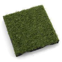 Gumová dopadová dlaždice s umělou trávou (V25/R15) - 50 x 50 x 2,5 cm