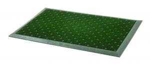 Zelená čistící venkovní vstupní rohož FLOMA Dots - délka 48 cm a šířka 76 cm