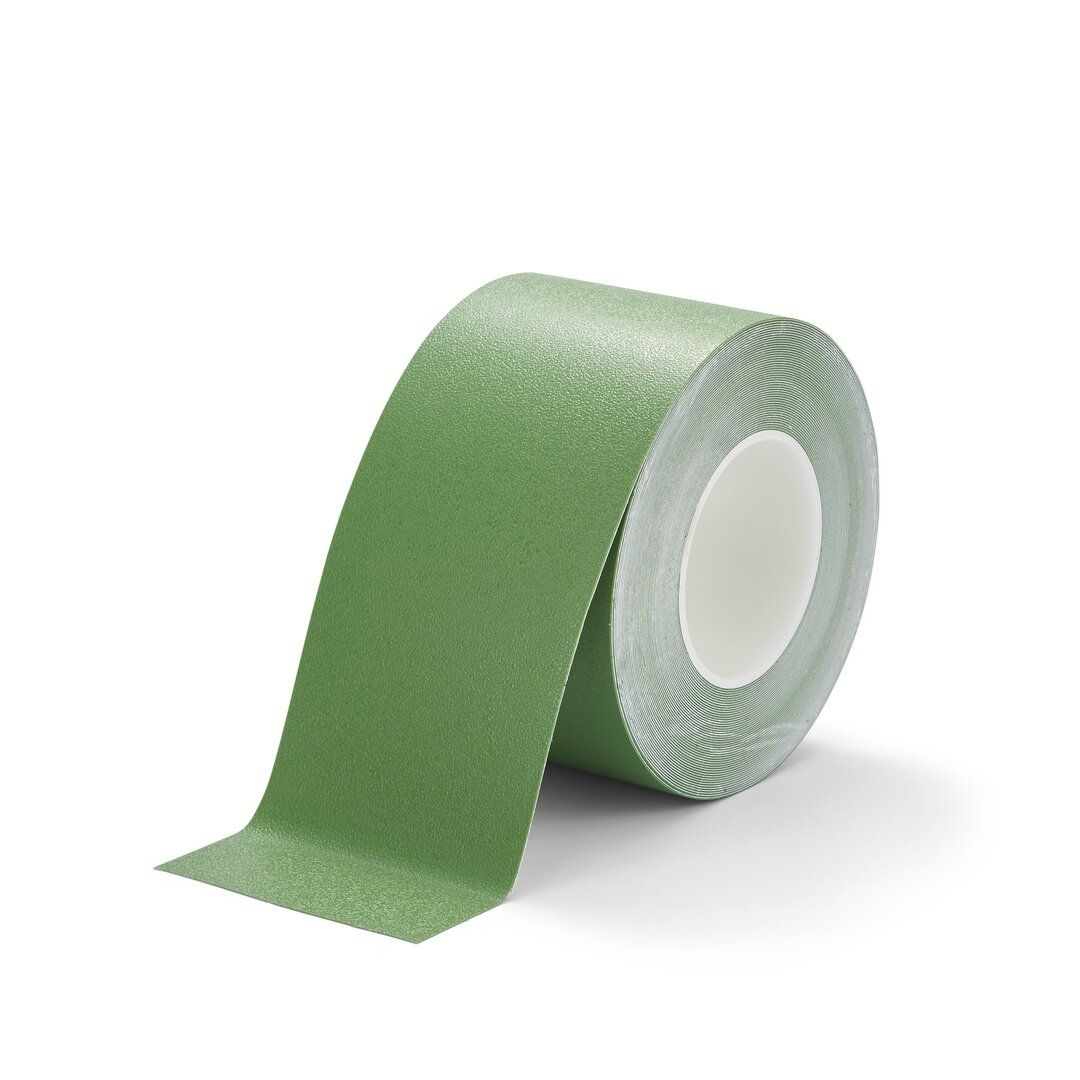 Zelená plastová voděodolná protiskluzová páska FLOMA Resilient Standard - délka 18,3 m, šířka 10 cm a tloušťka 0,58 mm