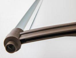 Vchodová stříška Valtellina 120 x 82 cm šedá / čirá