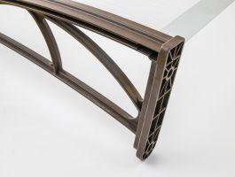 Vchodová stříška Valtellina 120 x 82 cm bílá / bronz