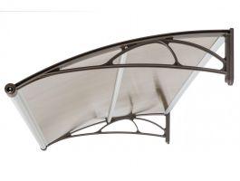 Vchodová stříška Valtellina 120 x 82 cm bílá / opál