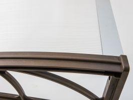 Vchodová stříška Valtellina 150 x 82 cm šedá / čirá