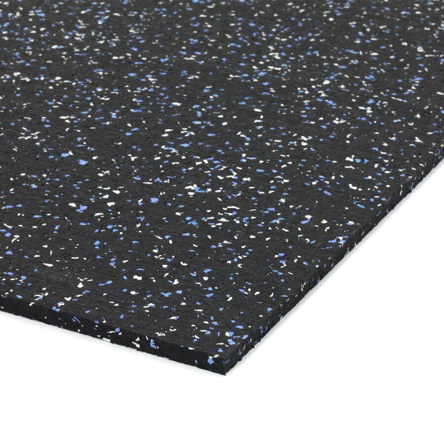Černo-bílo-modrá gumová modulová dlažba (deska) FLOMA SF1050 FitFlo - délka 198 cm, šířka 98 cm a výška 0,8 cm