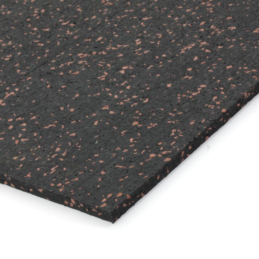 Černo-červená gumová modulová dlažba (deska) FLOMA SF1050 FitFlo - délka 198 cm, šířka 98 cm a výška 0,8 cm