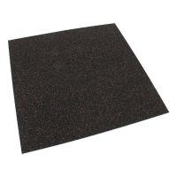 Černo-červená gumová modulová puzzle dlažba (roh) FLOMA SF1050 FitFlo - délka 95,6 cm, šířka 95,6 cm a výška 0,8 cm