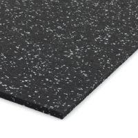 Černo-šedá gumová modulová dlažba (deska) FLOMA SF1050 FitFlo - 98 x 98 x 0,8 cm