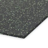 Černo-zelená gumová modulová dlažba (deska) FLOMA SF1050 FitFlo - 98 x 98 x 0,8 cm