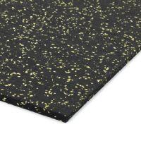 Černo-žlutá gumová modulová dlažba (deska) FLOMA SF1050 FitFlo - 98 x 98 x 0,8 cm