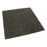 Černo-žlutá gumová modulová puzzle dlažba (roh) FLOMA FitFlo SF1050 - délka 47,8 cm, šířka 47,8 cm a výška 0,8 cm