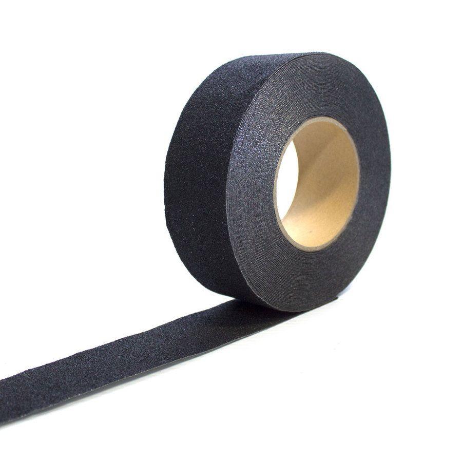 Černá korundová protiskluzová páska - délka 18,3 m a šířka 2,5 cm FLOMAT