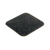 Černá korundová protiskluzová páska (dlaždice) pro nerovné povrchy - délka 14 cm a šířka 14 cm - 10 ks